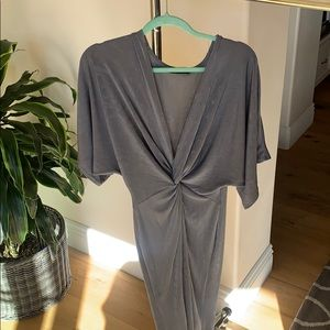 Missguided silver long dress